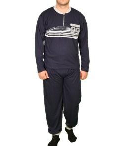 Pijama bleumarin Sixty-Eight pentru barbat - cod 39859
