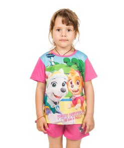 Pijama fete Paw Patrol Is On a Roll roz