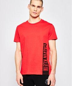 Tricou Calvin Klein Swimwear Relaxed Crew KM0KM00481 Roșu