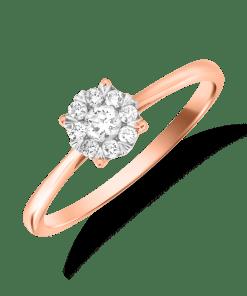 Inel logodna din aur roz de 18K cu diamante de 0.2ct 15635