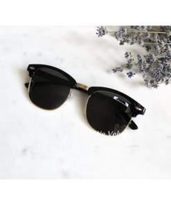 Ochelari de soare cu lentile negre polarizate