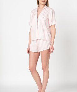 Pijama cu pantaloni scurti si dungi 2661851
