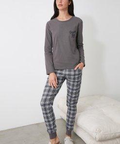 Pijama cu pantaloni in carouri 3312651