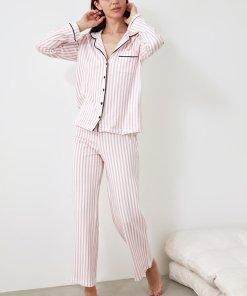 Pijama lunga cu model in dungi 3354046