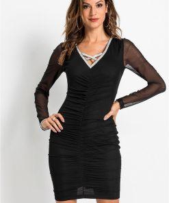 Rochie drapată - negru