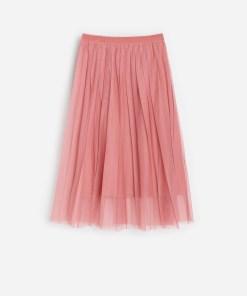 Reserved - Fustă cu pliuri - Roz
