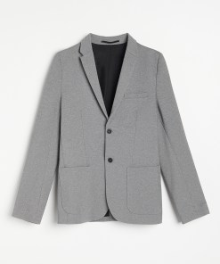 Reserved - Sacou clasic slim fit - Gri deschis