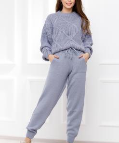Compleu Cindy lila din tricot
