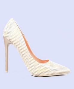 Pantofi stiletto Fergie aurii