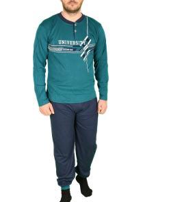 Pijama turcoaz pentru barbat - cod 41589