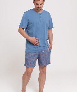 Pijama cu pantaloni scurti cu model in carouri 2903243