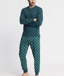Pijama din amestec de modal cu imprimeu Tartan 3457804
