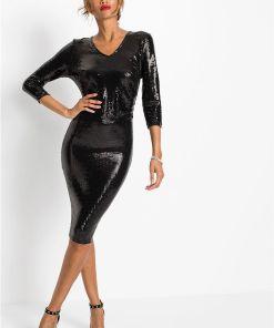 Rochie cu paiete - negru