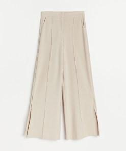 Reserved - Pantaloni largi de costum - Bej