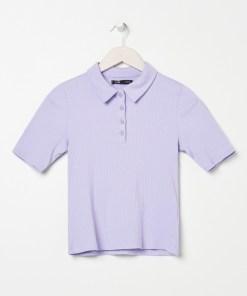 Sinsay - Tricou polo - Violet