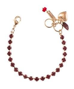 Bratara placata cu Aur roz de 24K, cu cristale Swarovski, January Lucky Birthstone   4000-241241RG