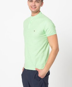 Tricou polo slim fit cu guler tip tunica 3365185