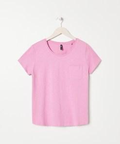 Sinsay - Tricou basic cu buzunar - Roz
