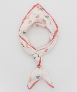 Reserved - Eșarfă cu imprimeu floral - Ivory