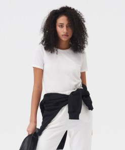 Sinsay - Tricou din tricot striat - Ivory