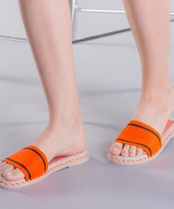 Papuci dama Zaraza portocalii