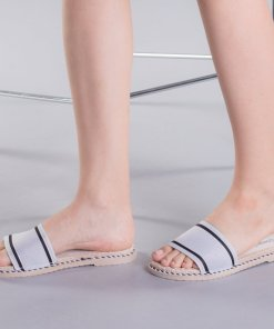 Papuci dama Zaraza albi