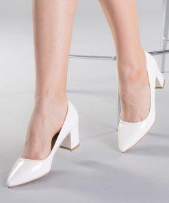 Pantofi dama Afila albi