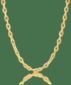 Lant din aur galben de 14K 19184