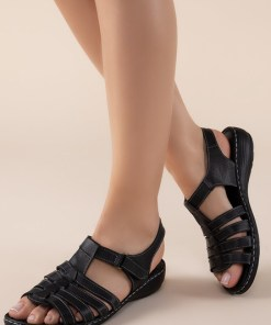 Sandale piele naturala Richelle Negre