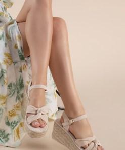 Sandale cu platforma Thaisa Bej