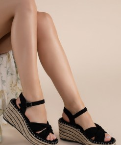 Sandale cu platforma Thaisa Negre