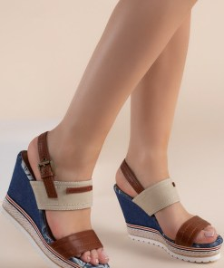 Sandale cu platforma Shadia Bej