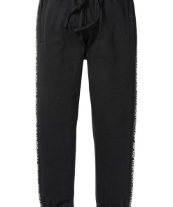 Pantaloni jogging cu detalii reflectorizante - negru