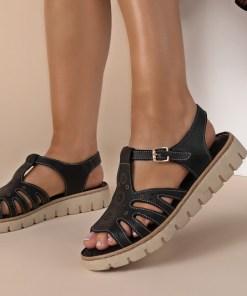 Sandale piele naturala Isadora Negre