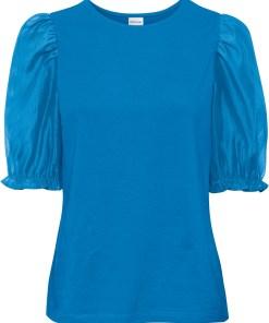 Bluză din bumbac bio - albastru