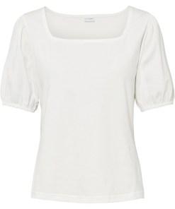 Bluză din bumbac organic - alb