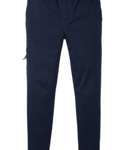 Pantaloni stretch Regular FIt cu croi confortabil, conici - albastru
