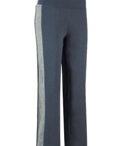 Pantaloni sport nivel 2, bumbac bio - albastru