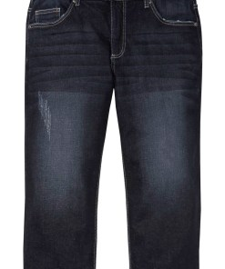 Blugi confort-stretch 3/4 Regular Fit - albastru