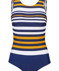 Costum de baie modelator, nivel 1, sustenabil - albastru
