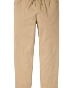 Pantaloni Classic Fit cu talie elastică, drepți - bej