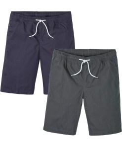 Pantaloni scurţi (2buc/pac), Regular Fit - albastru