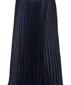 Fustă plisată cu poliester reciclat - albastru