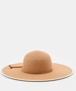 Sinsay - Pălărie împletită, cu boruri largi - Maro