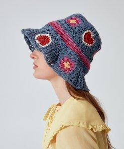 Reserved - Pălărie cloș RE.DESIGN - Multicolor