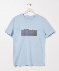 Sinsay - Tricou Eco Aware cu imprimeu - Albastru