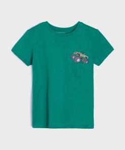 Sinsay - Tricou cu imprimeu - Verde
