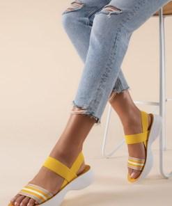 Sandale dama Priscilla Galbene