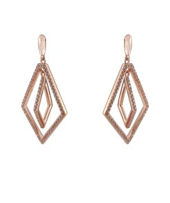 Cercei argint lungi rose-gold Ivonne