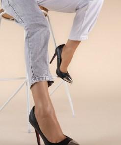 Pantofi stiletto Delusion V1 Negri